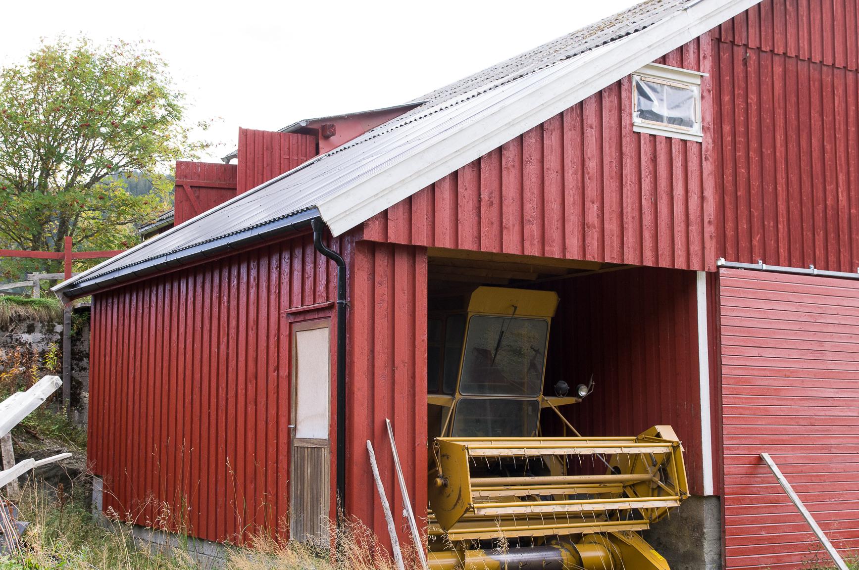 Tilbygg på redskapshus for landbruk
